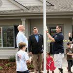 Flag Raising - Alex, Tim &